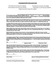 Physician Patient Disclosure Form